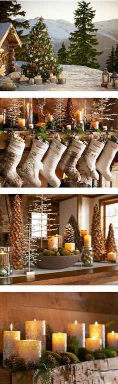Rustic Elegant Christmas Style More Winter Cabin Christmas Cabin