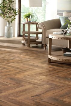 Long gone are the days of waxing, staining and sanding. Get The beauty of wood with the durability of tile.