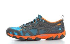 Merrell-Hurricane-Lace-Hydro-Mens-Blue-Hiking-Walking-Trainers-Sports-Shoes