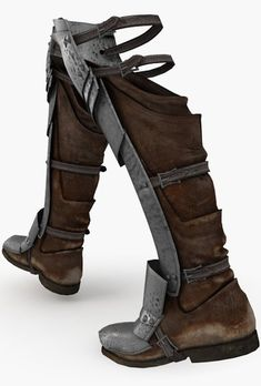 Steampunk Leg Armor Source by ludwig_thanner clothes ideas Armadura Medieval, Armor Clothing, Medieval Clothing, Gypsy Clothing, Armor Boots, Steampunk Accessoires, Medieval Armor, Medieval Boots, Medieval Gown