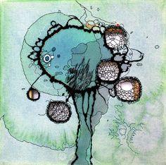 Nava Lubelski stitches thread on canvas « Made In Slant