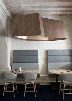 Restaurant at the new Fontevraud L'Hotel in the 12th-century Fontevraud Abbey, Loire Valley, France | Remodelista