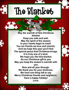 This Christmas Gift Idea is PERFECT for Emergency Preparedness! It's an Emergency Blanket! This Christmas Gift Idea is PERFECT for Emergency Preparedness! It's an Emergency Blanket! Neighbor Christmas Gifts, Christmas Poems, Neighbor Gifts, Santa Gifts, Christmas Projects, Christmas Traditions, Holiday Gifts, Holiday Fun, Christmas Holidays