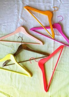 Assign different seasons of clothes different color hangers in your closet.