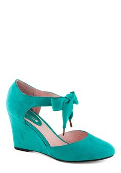 Live for Today Wedge in Teal, #ModCloth