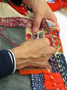 Akiko Ike #embroidery #sashiko #Japaneseneedlework