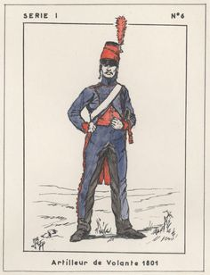 FRANCE - Napoleone in Egitto - Artilleur de Volante, 1801