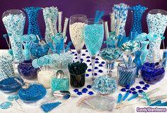 blue candy buffet!