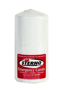 Sterno Emergency Candle. 55 hours. no batteries needed