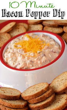 Blog post at The Taylor House :   Hi there! Rachel from Craving some Creativity back today with a quick dip recipe. It has bacon, roasted red peppers, and cheddar cheese.[..]