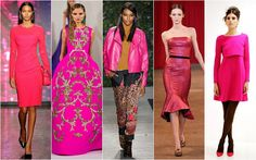 Hot Pink. Hot pink was on the mind of every designer as most of the collections had a lot of this hot hue.