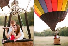 Best engagement session EVER.  Bikes, boats and balloons!