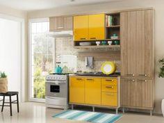 Cozinha Compacta Multimóveis Sicilia com Balcão - 9 Portas 3 Gavetas com as melhores condições você encontra no Magazine Edmilson07. Confira!
