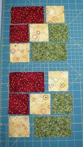 Accidental Quilt block redone Pieces