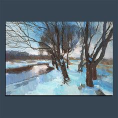 Original Oil Painting Landscape Palette Knife Painting Wall