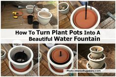Having a water fountain adds a lot of cuteness to your front or backyard. For our DIY friends, planting pots are perfect for building a water fountain. Today I am excited to feature this great tutorial from the interior frugalista to turn plant pots into Homemade Water Fountains, Backyard Water Fountains, Diy Water Fountain, Garden Fountains, Fountain Ideas, Diy Water Feature, Garden Yard Ideas, Garden Fun, Patio Ideas