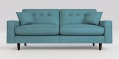 Buy Larson Large Sofa (3 Seats) Tweedy Blend Teal Conical - Standard from the Next UK online shop