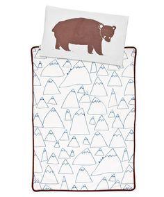 bear and mountains duvet