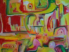 José Bernal - Title Good Morning America  Work Date 2000  Medium acrylic on canvas  Size h: 30 x w: 40 in / h: 76.2 x w: 101.6 cm