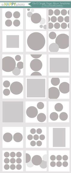 Items similar to Album Circles - 21 Single page Templates - Photographers on Etsy Album Design, Book Design, Grid Design, Circle Design, Page Template, Templates, Grid Layouts, Book Layouts, Photo Collage Template