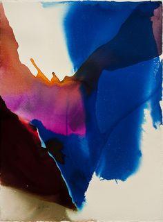 "hirshhorn: "" Daily Art Shot (748 of ∞): Paul Jenkins, ""Phenomena Wing Span,"" 1961 Watercolor on paper """