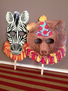 Circus Masks- Vintage Circus Inspired- Wedding, Birthday Party, Baby Shower-Photo Prop. $8.00, via Etsy.