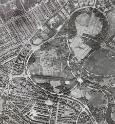 Aerial view of Sefton Park with allotments. 1941 Courtesy of Liverpool City Council www.liverpool.gov.uk/parks