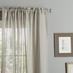 Light and effortless, these linen curtains brighten up any room.Each panel measures 50