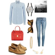 A fashion look from February 2015 featuring Polo Ralph Lauren tops, H&M jeans and Sperry Top-Sider shoes. Browse and shop related looks.