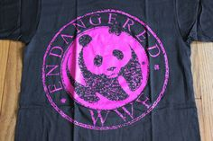vintage WWF Endangered Panda Bear t shirt 90's by oldtimeytime, $15.95