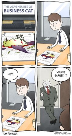 The adventures of business cat.