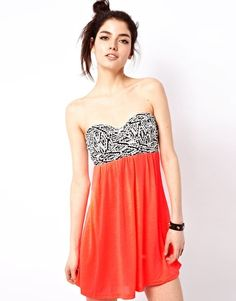 Reverse Bandeau Skater Dress