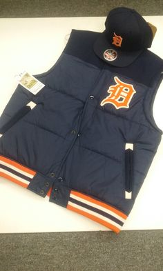 This set is only for the #serious #detroitTiger Fan!. Mitchel & Ness Vest with #original Tigers Mitchell & Ness #Snapback!