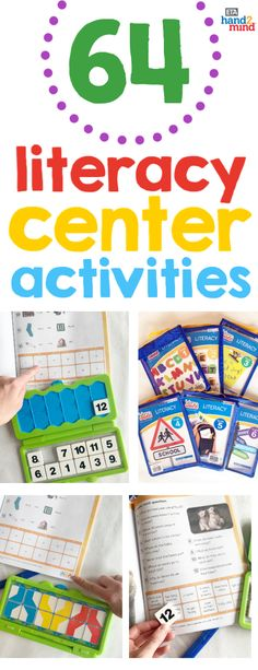 The perfect kit for practicing literacy skills in the classroom or at home!  Kids choose a skill to practice and use the tiles to complete their answers in the workbook, then immediately self check their answers.  Teachers can use this kit during language arts block in small groups, guided reading, literacy stations, and daily 5 rotations.  There are 64 activities and reading passages.  Perfect if you're looking for center ideas! This versatile kit is a fun learning resource for elementary… Literacy Stations, Literacy Skills, Literacy Centers, Sentence Building, Making Words, Spelling Activities, Reading Passages, Center Ideas, Daily 5
