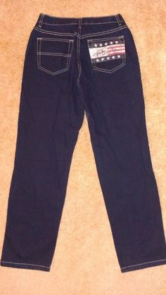 #FallClothes #TommyHilfiger American Flag Jeans Women's SZ 4 FREE USA SHIP Straight Leg http://www.bonanza.com/listings/215763059 #bonanza #fashion #gift