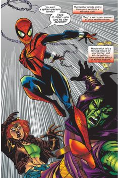 "Spider-Girl vs the Green Goblin in Spider-Girl May ""Mayday"" Parker the daughter of Spider-Man Spiderman Girl, Spiderman Movie, Amazing Spiderman, Dc Comics Women, Fun Comics, Spider Art, Spider Verse, Marvel Comic Character, Marvel Characters"