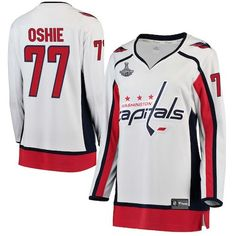 0d081be98f1 TJ Oshie Washington Capitals Women s 2018 Stanley Cup Champions Away  Breakaway Player Jersey - White