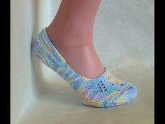 How to Loom Knit Lace Ballet Socks (Includes simple version) - YouTube