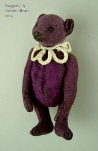 "Image of Raggedy,Vintage Styled  2 3/4""  Miniature Artist Teddy Bear by Aerlinn Bears"