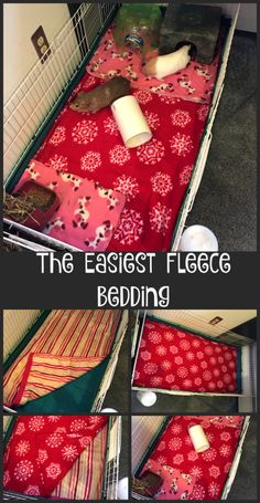 This is the easiest way to do fleece bedding for guinea pigs rabbits and other small animals. Over the years Ive done all kinds of different things for bedding in my habitats. Yes I call Diy Guinea Pig Cage, Guinea Pig House, Pet Guinea Pigs, Guinea Pig Care, Pet Pigs, Diy Guinea Pig Toys, Cavy Cage, Guinie Pig, Pig Habitat