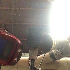 Overhead today lol #welding #welder #weldporn