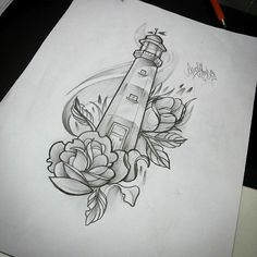 Image result for lighthouse tattoo woman