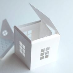 Tea Light Paper House With Free Download Template And Svg  Crafts