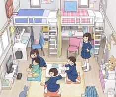 Aesthetic Bedroom, Aesthetic Art, Aesthetic Anime, Art Deco Interior Living Room, Hyanna Natsu, Dream Anime, Fantasy Art Landscapes, Home Room Design, Building Art