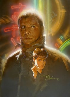 "Alvin, who died in 2008 after a career spanning four decades, hand-painted all his work. | This Alternate ""Blade Runner"" Poster Art Is Unreal"