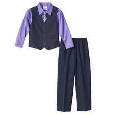 $30 Nay IZOD Striped Vest Set - Boys 4-7