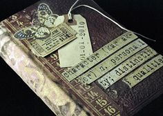 altered book into journal... love the pages taped together with washi tape