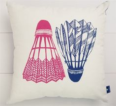 Shuttlecock cushion cover - White Horse Home - Shop Online Buy Gifts Online, Homewares Online, Arte Pop, Textures Patterns, Decoration, Screen Printing, Unique Gifts, Design Inspiration, Throw Pillows