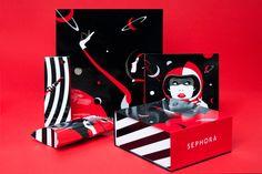 Nouvelle collaboration entre Sephora et Malika Favre - étapes: Sephora, Design Retro, Print Design, Graphic Design, Retro Illustration, Illustrations, Digital Illustration, Galaxy Design, France