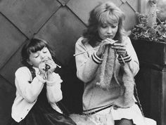 "Jeanne Moreau and Sabine Haudepin in ""Jules et Jim"" by François Truffaut."